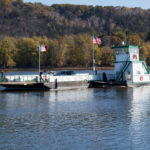 CE7E6N IA, Clayton County, Cassvile Wisconsin car ferry, on the Mississippi River