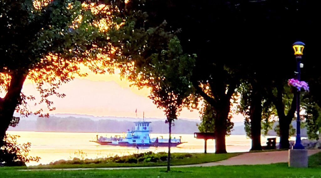 Ferry from veiw of park